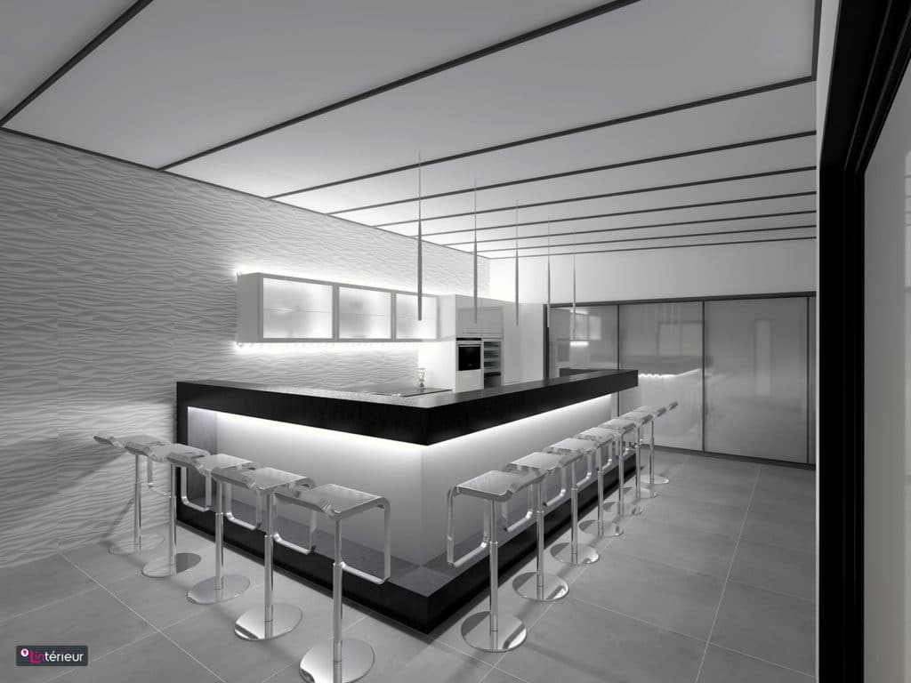 la cuisine esprit bar lint rieur architecte d 39 int rieur l 39 int rieur. Black Bedroom Furniture Sets. Home Design Ideas
