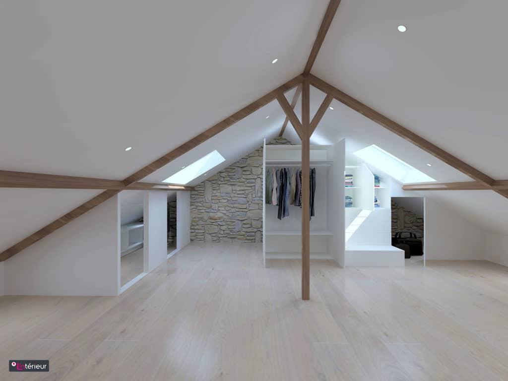les rangements sous rampant lint rieur architecte d int rieur. Black Bedroom Furniture Sets. Home Design Ideas