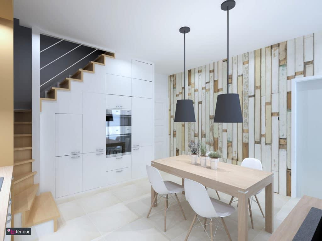 la cuisine en escalier lint rieur architecte d 39 int rieur l 39 int rieur. Black Bedroom Furniture Sets. Home Design Ideas