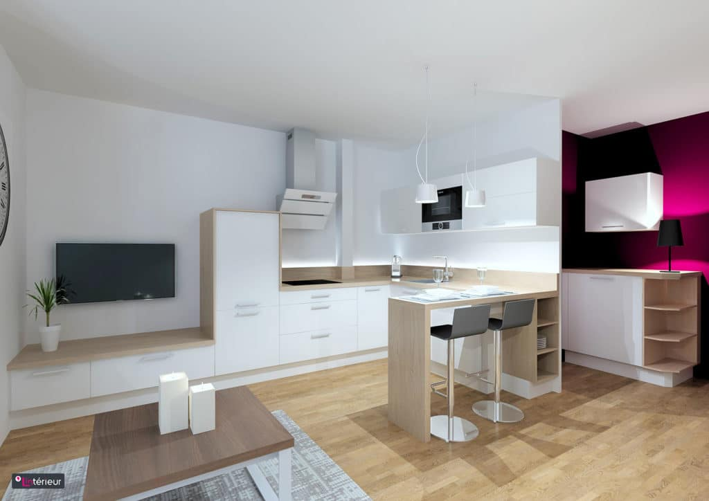 Cuisine optimis e nantes l 39 int rieur designer d 39 int rieur for Design d interieur nantes