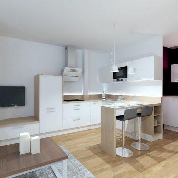 La cuisine optimisée réalisée par le magasin L'intérieur Nantes