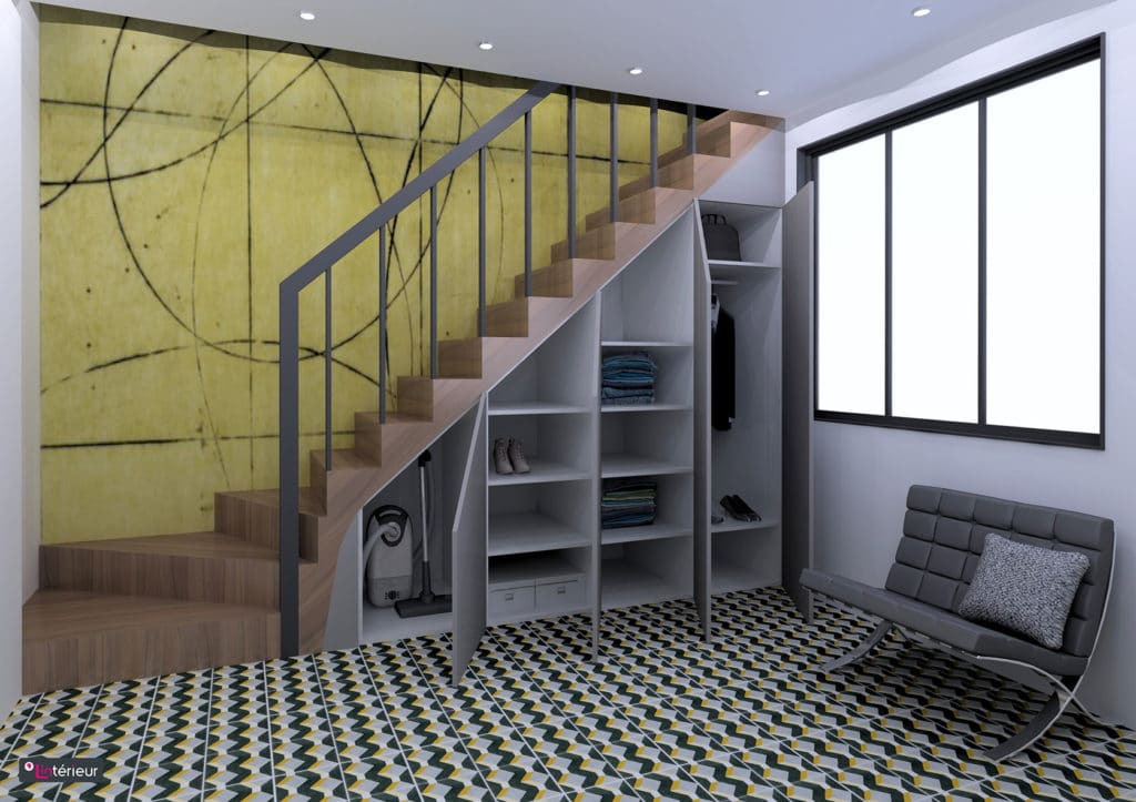 le rangement sous escalier. Black Bedroom Furniture Sets. Home Design Ideas