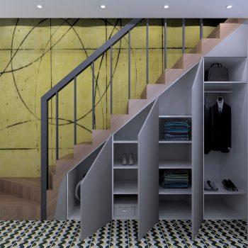 Rangement sous escalier nantes l 39 int rieur architecte d 39 int rieur - Magasin papier peint nantes ...