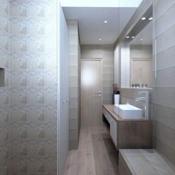 La salle de bain compacte réalisée par le magasin L'intérieur Nantes