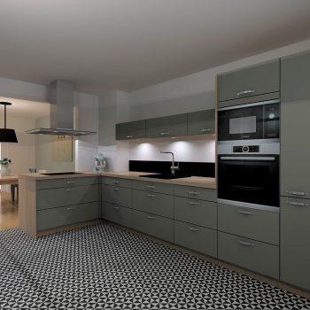 La cuisine esprit vintage réalisée par le magasin L'intérieur Nantes